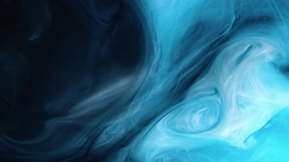 Thumbnail for Universe Blue Color Paint Pouring in Water Acrylic Colors and Ink in Water Abstract Frame