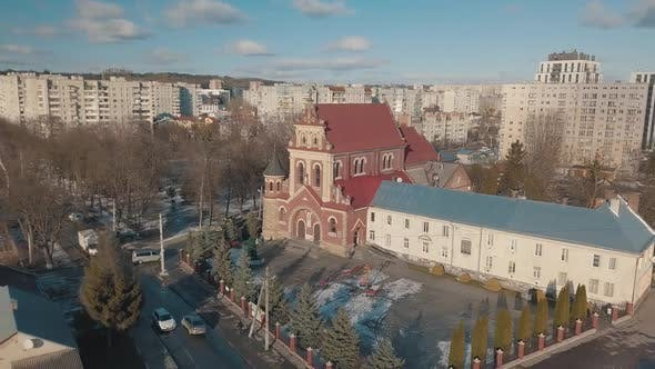 Thumbnail for Aerial View Saint Josaphat Church Ukrainian Catholic Cathedral. Lviv, Ukraine