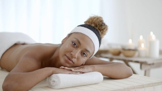 Thumbnail for Happy Girl Relaxing In Spa Salon