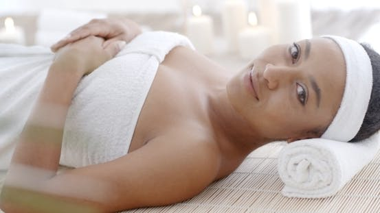 Thumbnail for Woman Lying On A Lounger In A Wellness Center
