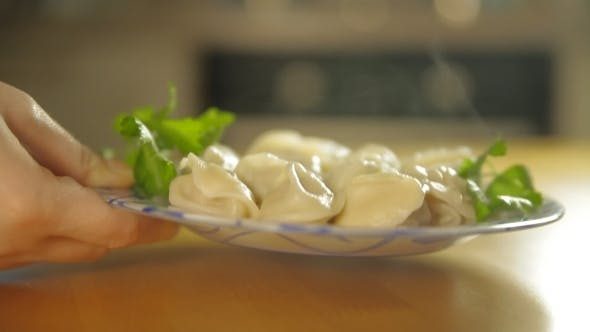 Thumbnail for Plate With Dumplings On a Table