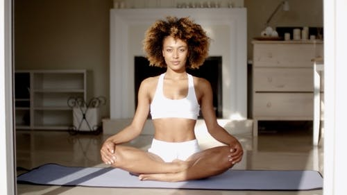 Woman In The Lotus Position