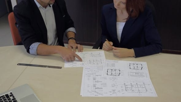 Thumbnail for Man And Woman Develop a Plan. Bank Robbers