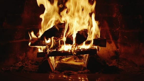Thumbnail for Fire Burns In The Fireplace