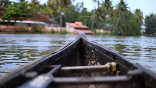 Thumbnail for Wooden Canoe On The River