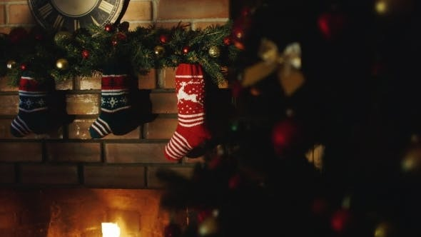 Thumbnail for Socks For Christmas Gifts Over The Fireplace