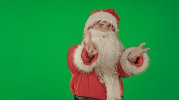 Thumbnail for Santa Claus Dancing In Costume On a Green Screen