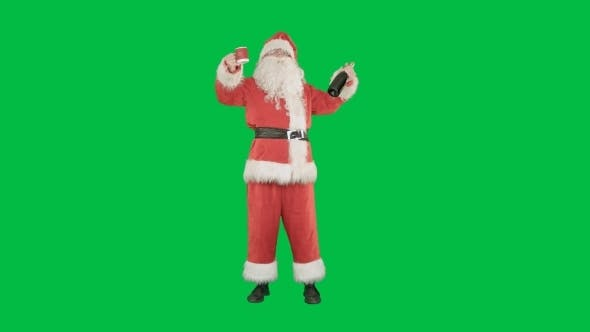 Thumbnail for Santa Wishing Merry Christmas And Drinking