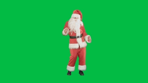 Cover Image for Happy Christmas Santa Claus Having Fun And Dancing
