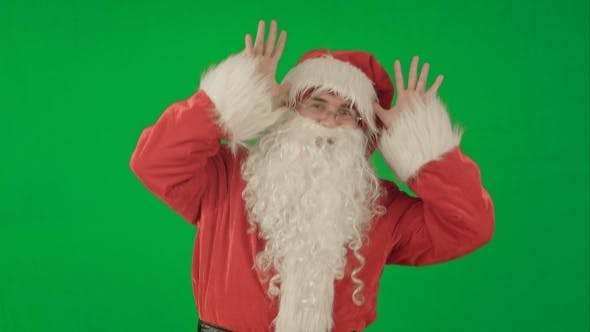Thumbnail for Happy Dancing Santa Claus On a Green Screen Chrome