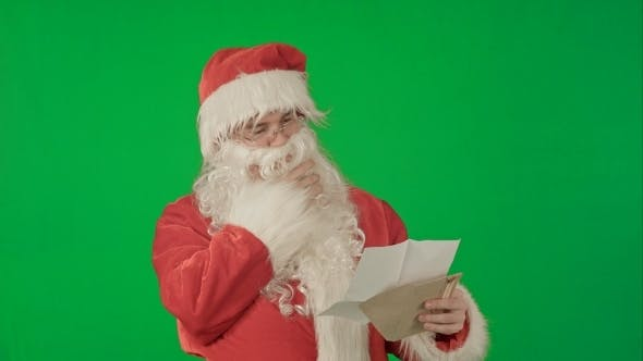 Thumbnail for Santa Claus Reading Letters From Children On a