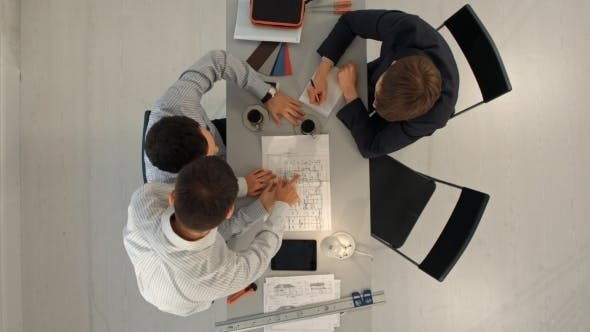 Architects Planning a House Project