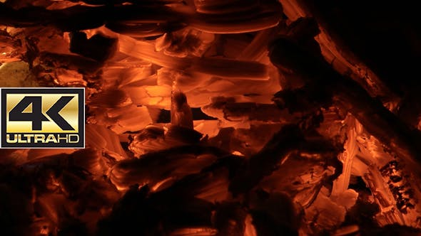 Hot Coals in the Fireplace