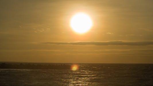 Thumbnail for Orange Sun Over Sea