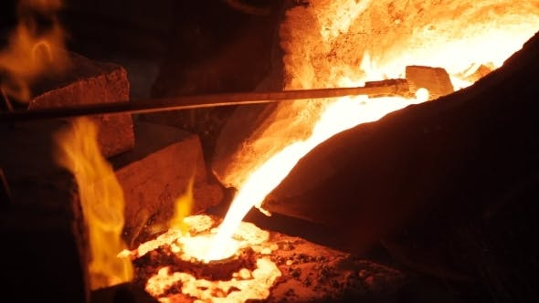 Thumbnail for Hot Steel Pouring At Steel Plant