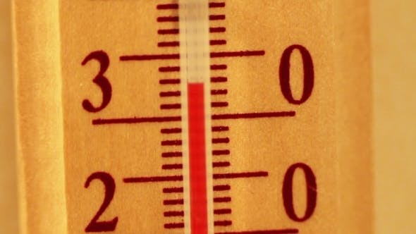 Thumbnail for Temperature Rising On a Thermometer.