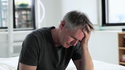 Man experiencing depression