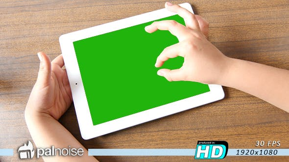 Thumbnail for Tablet Touch by Kid Zoom in out Picture