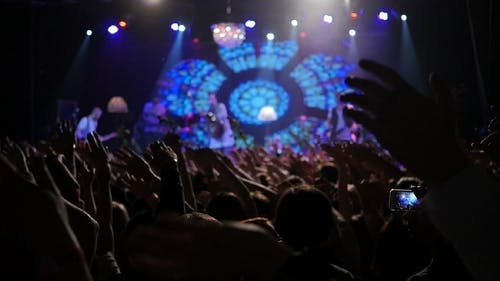 Live Concert Crowd Hands In The Air