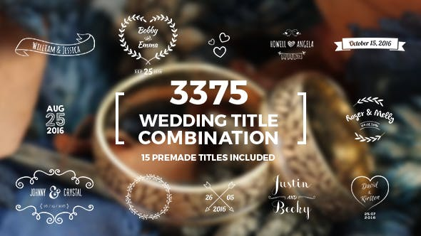 Thumbnail for Elegantes Hochzeitstitel Kombinationspaket