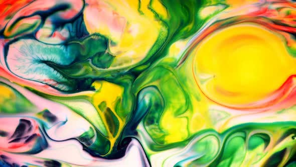 Thumbnail for Abstract Ink Movement On Milk