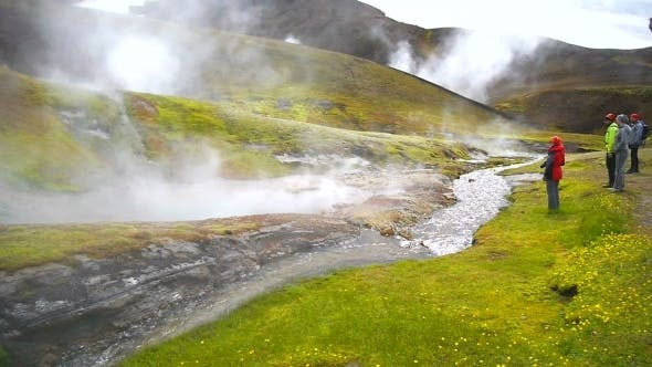 Thumbnail for Trekking Geothermal Pool In Iceland