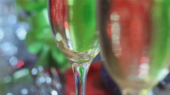 Thumbnail for Christmas Champagne Glasses with Champagne