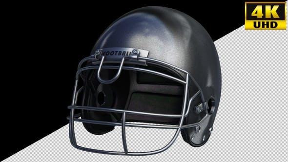 Football Sports Helmet On Alpha Channel Loops Pack V1