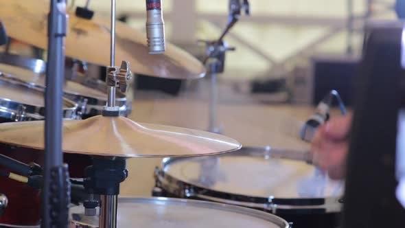 Thumbnail for Drummer Plays Closeup