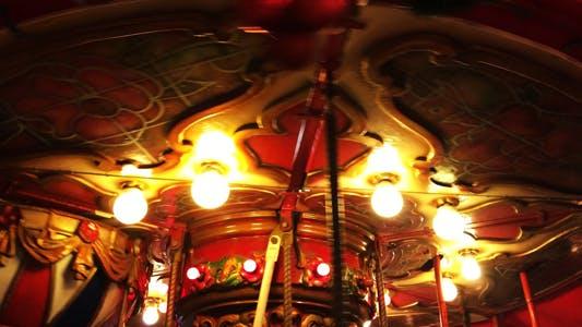 Thumbnail for Carousel in Amusement Park in Fun Fair Merry Go Round 3