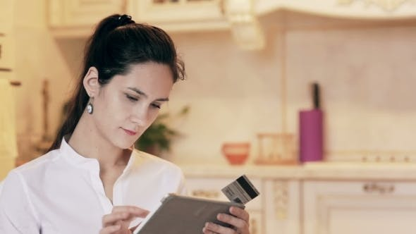 Thumbnail for Woman Shopping Online With Tablet