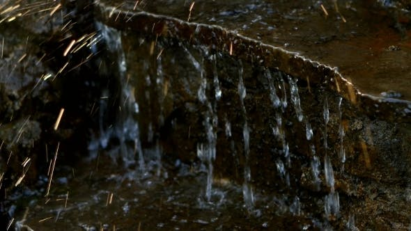 Part Of Fountain In The Nature