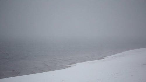 The Volga River in Russia in the Winter