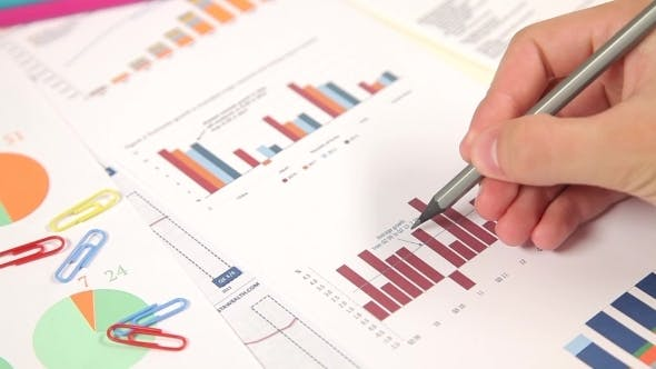 Thumbnail for Businessman Working With Market Data Information