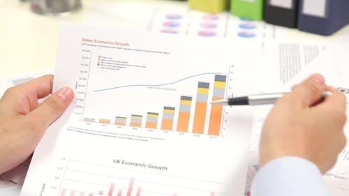 Businessman Analysis Economic Growth