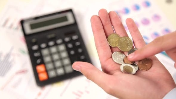 Thumbnail for Businessman Counting Coins On Hand 1