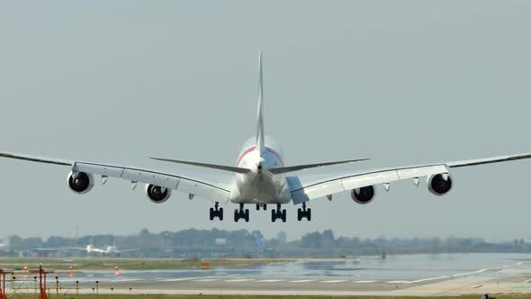 Thumbnail for Commercial Airbus A380 Jumbo Jet Plane Landing