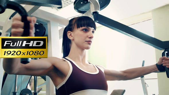 Thumbnail for Cute Girl Training At Gym Sport Club