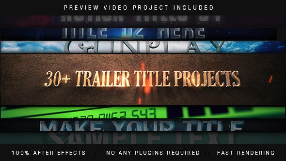Thumbnail for Trailer Titles Pack