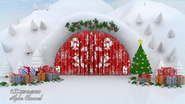 Thumbnail for Schneehöhle - Weihnachtsvorhang offen