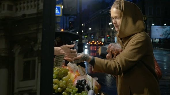 Thumbnail for Woman Buying Fruit In Outdoor Market
