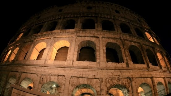 Thumbnail for Sightseeing Of Rome, Coliseum At Night