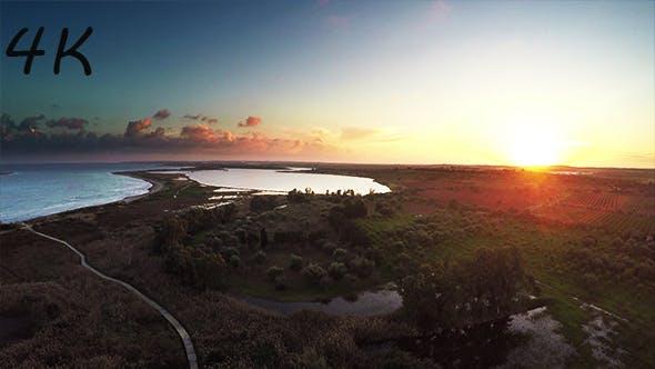 Thumbnail for Aerial Sunrise over the Lake