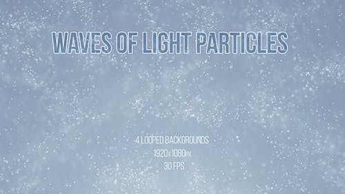 Waves Of Light Particles