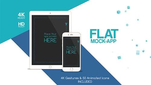 Flat Mock App Commercial