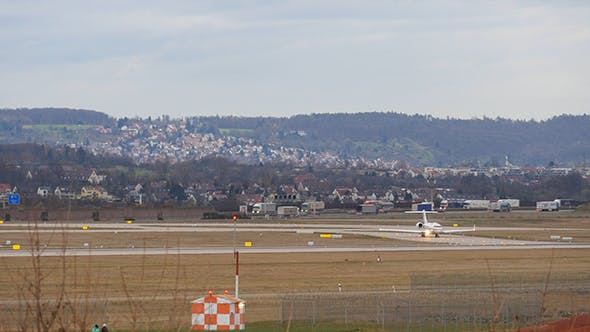 Thumbnail for Aircraft Taxiing On The Runway