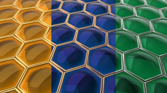 Cover Image for Honeycomb  Amber  Sapphire  Emeralde  Backgrounds