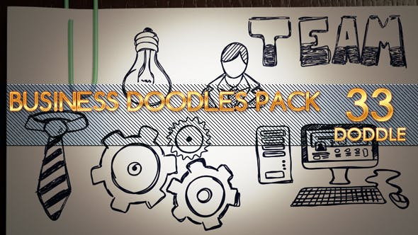 Thumbnail for Animated Business Doodles Pack
