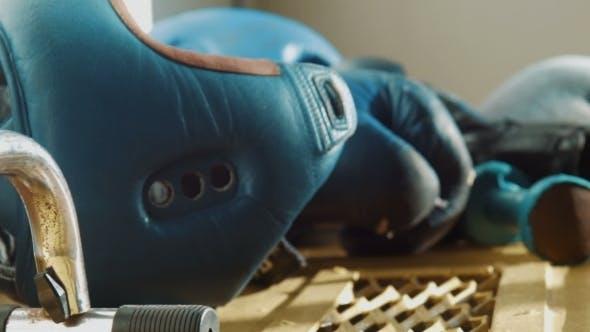 Thumbnail for Equipment For Boxing, a Helmet, Dumbbells, Gloves