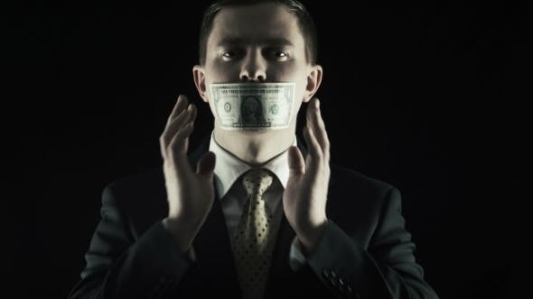 Thumbnail for Person Closed a Mouth a One Hundred Banknote